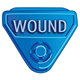 IN-A-SNAP WBCLASP-WO2 Alert Bands Clasp, Plastic,''WOUND'' Embedded Print, Interleaving Design X, Adult/Pediatric, Blue (Pack of 250)