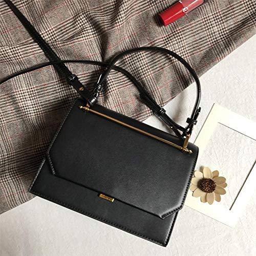 Paquet 16 Oblique en Sac Sac en Vintage Petites bandoulière Unique métal à A cm Bar 21 9 de Croix côté Main Cuir Sxuefang Croix q1SvwvC