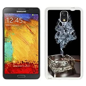 NEW Unique Custom Designed For Case Samsung Galaxy S4 I9500 Cover Phone Case With Smoke Skulls Ashtray Burning Cigarette_White Phone Case