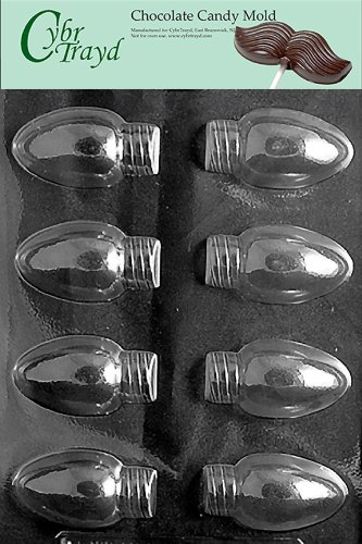 - Cybrtrayd Life of the Party C431 Christmas Lights  Chocolate Candy Mold in Sealed Protective Poly Bag Imprinted with Copyrighted Cybrtrayd Molding Instructions