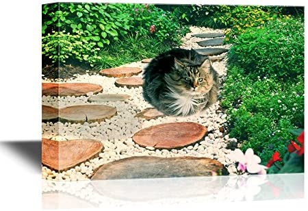 Funny Flying Animals A Cute Cat Flying Above a Garden Nursery Wall Kids