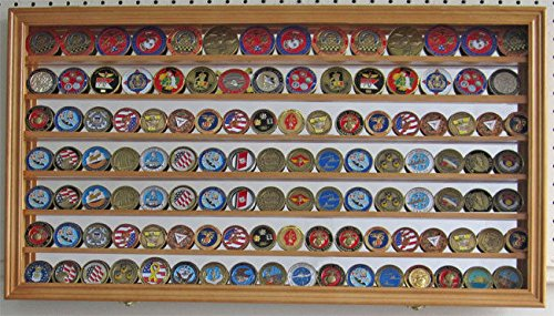 Challenge Coin Display Case Wall Shadow Box Cabinet With Mirror Back by Display Case