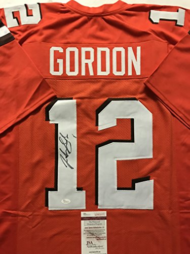 4f0f5dcb6c2 Autographed Signed Josh Gordon Cleveland Browns Orange Football Jersey JSA  COA