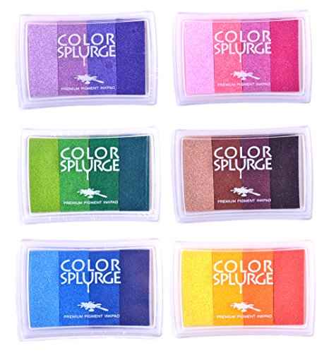 Rainbow Ink Pad Sets, WITH FREE GIFT INCLUDED Kid's Tattoos while stocks last - 24 Shades Of Beautiful Water-Based Colors - For All Ages & Infinite Uses