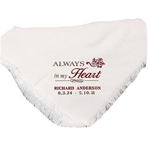 GiftsForYouNow Embroidered Memorial Throw Blanket