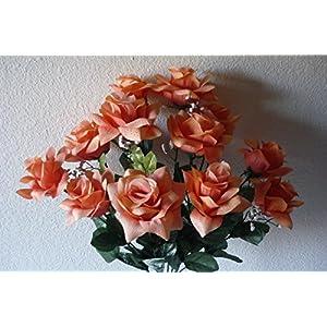 bridalweddingbouquets Coral Open Rose Flower Bush 65