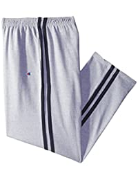 Champion mens big-tall Big & Tall Open Bottom Double Stripe Fleece Sweatpant
