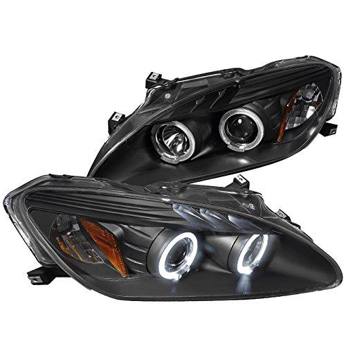 Spec-D Tuning 2LHP-S2K04JM-TM Honda S2000 Dual Halo Led Black Projector Headlights