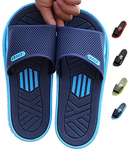 HAOJIALI Shower Shoes Slippers Men's House Sandal Slide Bath Indoor Pool Beach Garden QuickDrying Home Swimming Summer