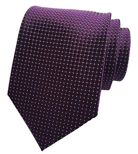 (Elfeves Mens Noble Dark Grape Purple Ties Wedding Party Suit Microfiber Neckties)