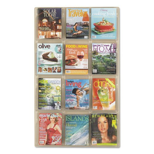 Safco Products 5602CL Reveal Literature Display, 12 Magazine, Clear by Safco Products