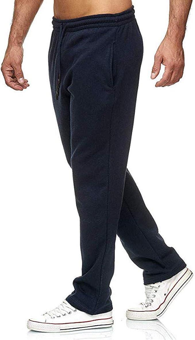 Willsa Mens Pants Casual Slim Sports Pants Striped Trousers Baggy Harem Long Pants