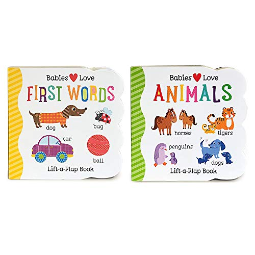 2 Pack Chunky Lift-a-Flap Board Books: First Words / Animals Lift-a-Flap Books (Babies Love) ()