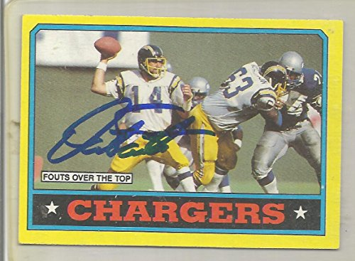 1986 Topps Football Dan Fouts Autographed Chargers Team Card JSA Certified (CSC) ()