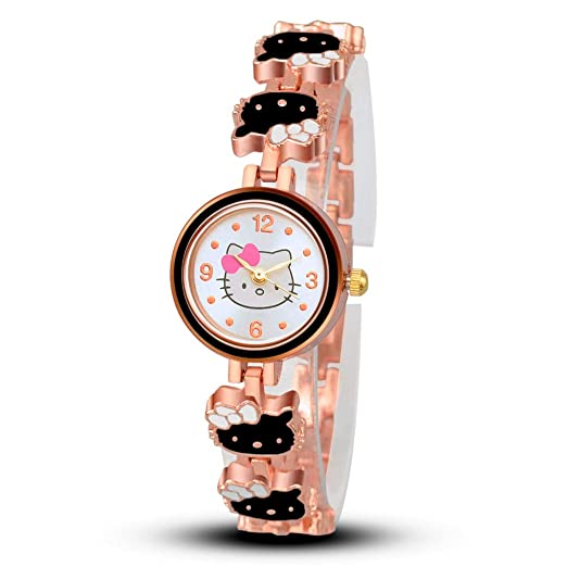 6d8c6af36 Image Unavailable. Image not available for. Color: Women Hello Kitty Watch,  Fashion Casual Dress Wristwatch Quartz Relogio Feminino Female ...