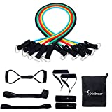 Resistance Bands Sportneer Exercise Band Set, for Home Gym Workout, with Door Anchor, Ankle Strap and Chest Expander