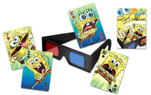 Spongebob With Glasses (Bicycle SpongeBob Squarepants 3D Playing Cards and 3D Viewing Glasses)