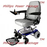 "Shoprider - Smartie - Rear Wheel Drive Travel Power Chair - 18""W x 17.5""D - Blue - PHILLIPS POWER PACKAGE TM - TO $500 VALUE"