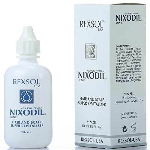 REXSOL Nixodil Hair and Scalp Super Revitalizer | With Live Yeast Cell Derivatives, Biotin, Lecithin, Swertia Extract & Lavender Oil | Helps to Prevent hair loss an Stimulate Growth.(120 ml/4.2 fl oz)