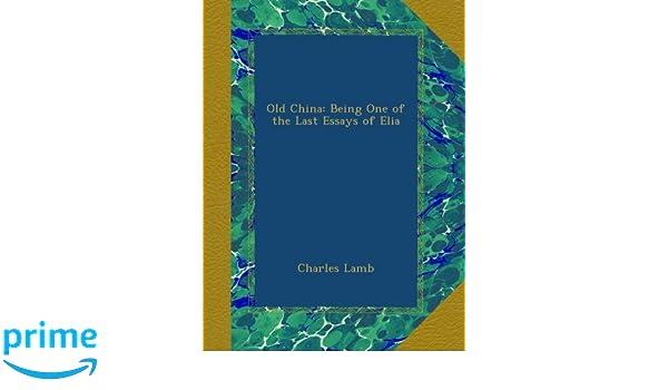 Essays of elia summary
