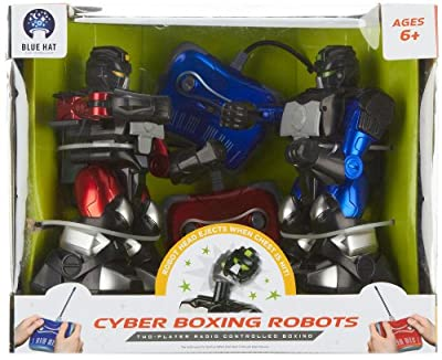 Blue Hat Remote Control Cyber Boxing Robot Set Multi