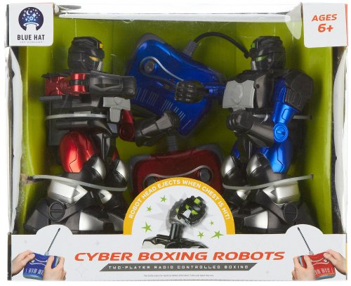 Blue Hat Remote Control Cyber Boxing Robot Set (Boxing Robots)
