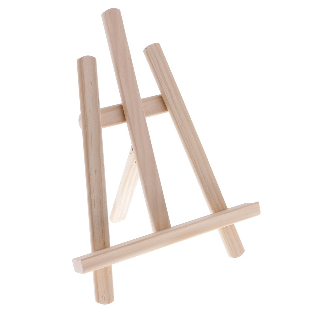 Dovewill Mini Wood Tripod Sketching Drawing Easel Painting Easel for Kids Decorative Desk Table Picture Frame Display Easel 28x21x4cm