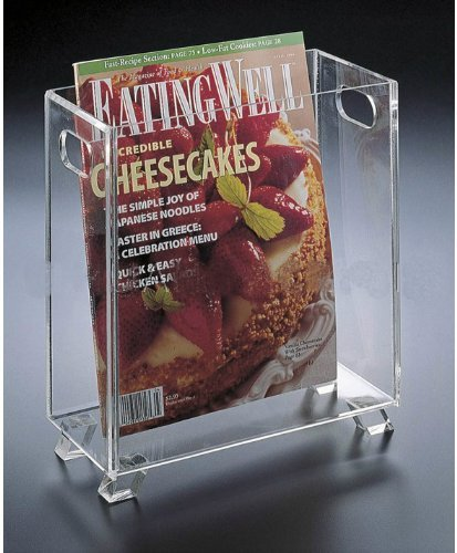 Clear Acrylic Magazine Holder or Wastebasket Huang Acrylic H-510
