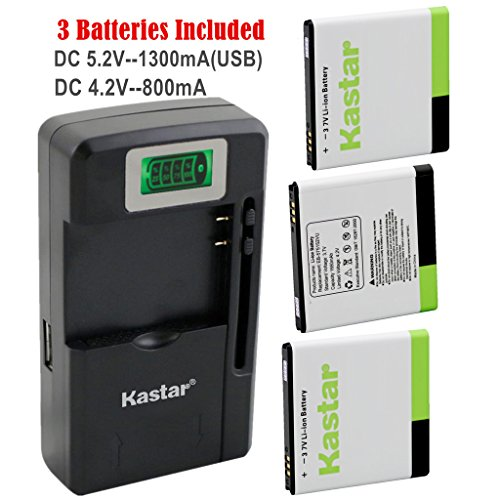 Samsung Captivate I897 Lcd - Kastar Galaxy S1 Battery (3-Pack) and intelligent mini travel Charger ( with high speed portable USB charge function) for Samsung Galaxy S, S1, S I, Vibrant T959, i9000, i9001, Captivate i897, Focus i917, Captivate Glide i927, Epic 4G D700 AT&T, T-Mobile, Sprint, Verizon Smartphone Fit EB575152, EB575152VA, EB575152VU, EB575152LA, EB575152LU, EB575152LAB --Supper Fast and from USA