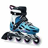 Rollerblade Maxxum 84 Performance Skate with 84mm Wheels & SG9 Bearings, Petrol Blue/White, US Size 10
