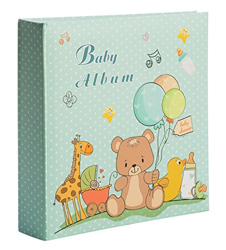 Baby Boy Photo Album - Holds 200 4x6 Inch Photos - by Bay Area Housewares
