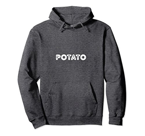 Unisex Potato Hoodie Women Men Funny Spud Lovers Gift Irish Costume Medium Dark (Irish Costume Ideas)