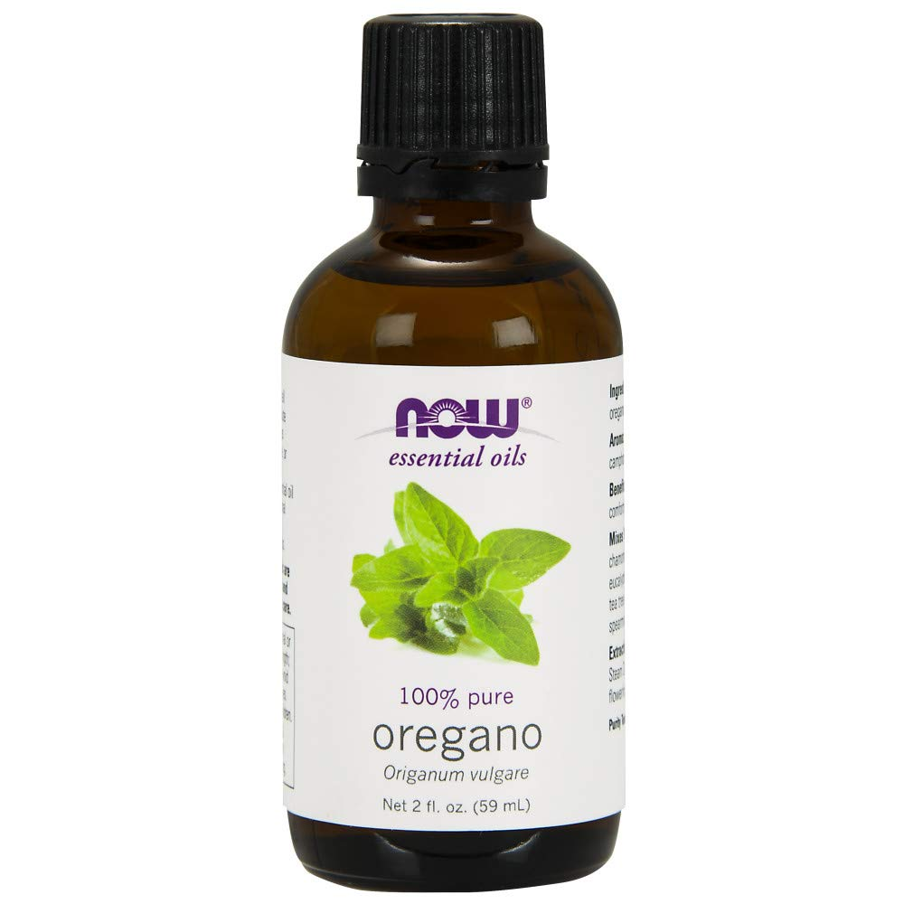 NOW Essential Oils, Oregano Oil, Comforting Aromatherapy Scent, Steam Distilled, 100% Pure, Vegan, 2-Ounce