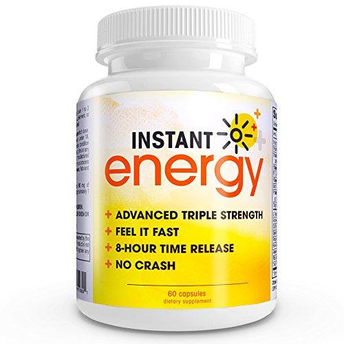 Instant Energy COMPLETE Natural Energy Supplément Formule force maximale mélange de vitamine B-1, de la vitamine B-2, de la vitamine B-3, vitamine B-6, Tongkat Ali, acide folique, magnésium, vitamine B-12, biotine, acide pantothénique, L -Taurine, Acai, l