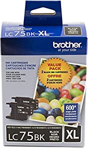 Brother Printer LC752PKS 2 Pack of Cartridges Ink - Retail Packaging by Brother