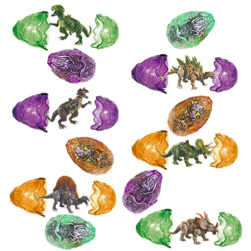 - Totem World 12 Toy Filled Ancient Dinosaur Eggs and Dino Figurines Inside - Kids Love Their Bright Colors and Adorable Designs - Perfect for Egg Hunts, Goodie Bags, Homework Rewards, and Party Favors