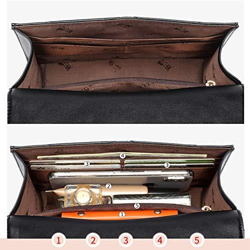 Hwx Crossbody Borse Pelle 20x7x13 In Black nero Donne black Messenger Tempo 9cm Le Libero Tracolla Per Flap Borsa rzqr0w