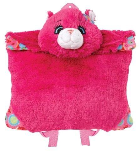 Pillow Pets Flower Power Cat Plush Backpack (Flower Power Cat Pillow Pet)