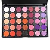 35 eyeshadow palette - MISKOS Purple Series 35 Color Eyeshadow Palette Shimmer Matte Warm Orange Make up Set Naked Eye Shadow Cosmetic Kit 35P-2