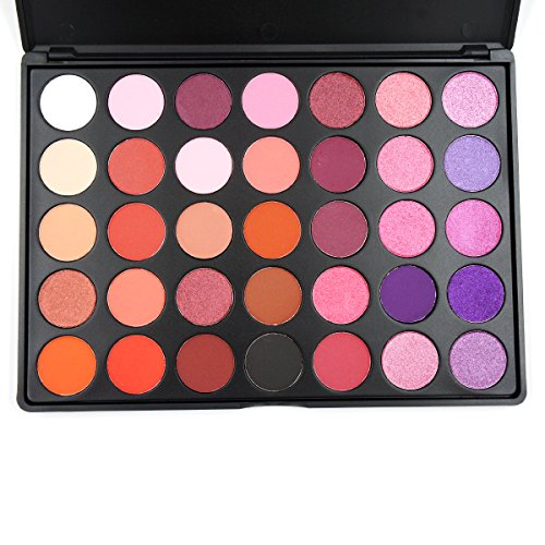 MISKOS Purple Series 35 Color Eyeshadow Palette Shimmer Matt