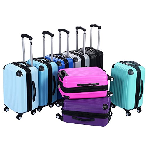 "Goplus GLOBALWAY 20"" Expandable ABS Carry On Luggage Travel Bag Trolley Suitcase"