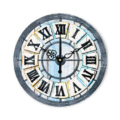 WXIN Wall Decor Tower New York Big Ben Clock Edificio Famoso Modelo De Arquitectura 14 Pulgadas Reloj De Pared Grande Reloj Diseño Moderno - Deep Blue, ...