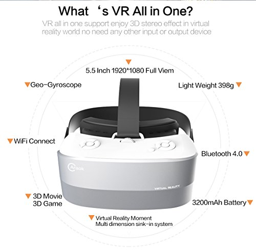 CARAOK V12 VR 3D Headset, V9 Visual Reality 3D Glasses