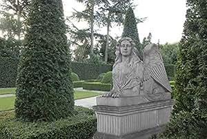 Esfinge, Stone Esfinge, Figura de jardín, diseño de piedra, Ste, weissgrau