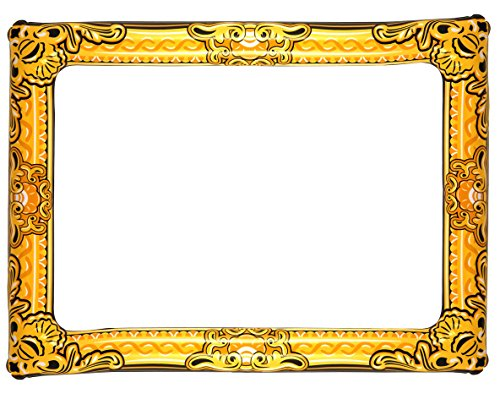Inflatable Novelty Large Gold Photo Frame 60cm x 80cm]()