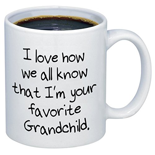 P&B I Love How We All Know I'm Your Favorite Grandchild Ceramic Coffee Mugs M305 (11 oz.)