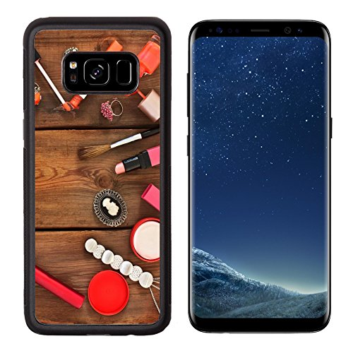 MSD Premium Samsung Galaxy S8 Aluminum Backplate Bumper Snap Case Set of cosmetics and women IMAGE 30559519