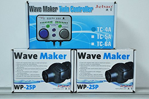 Wave Maker reef tank Jebao TC-4A TC-5A WP10 WP25 Qmax flow twin double controller 110v 220v 240v aquarium coral marine by Water Pump,Wave Maker