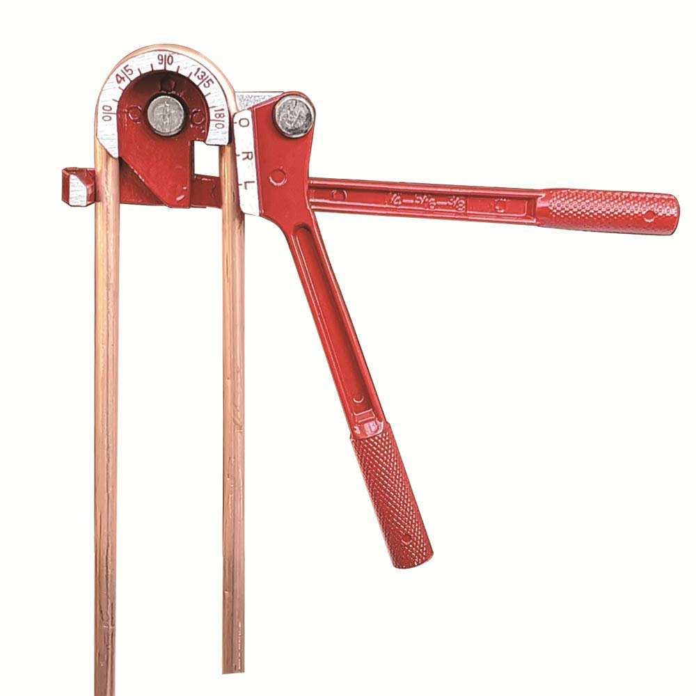 180 Degree Manual Tubing Bender 1//4 5//16 3//8 Pipe Bender for Copper Aluminum Brass Steel Metal Tubing
