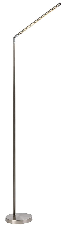 Nino Leuchten Stehleuchte, Metall, Silber, 20 x 20 x 160 cm